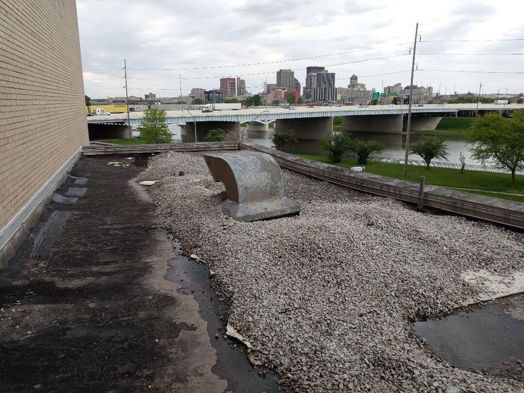 Dayton, OH - Flat roof repairs in Dayton, Ohio.