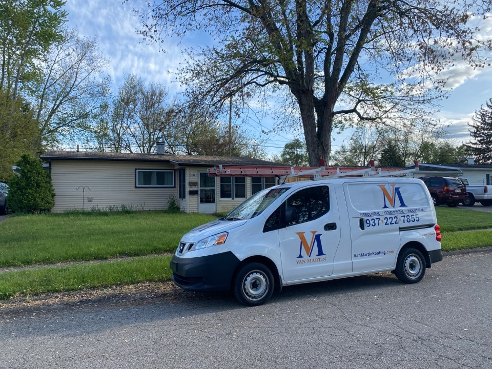 New Carlisle, OH - Meeting with a customer for a CertainTeed Shingle roof replacement in New Carlisle, Ohio.