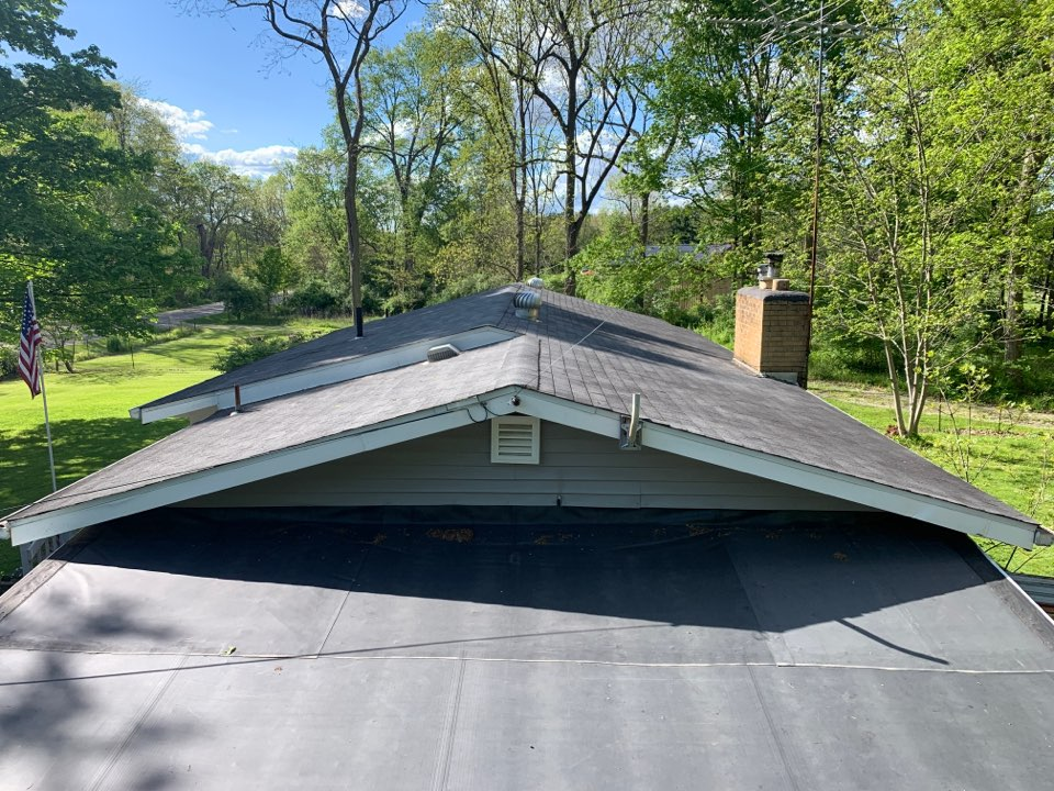 New Carlisle, OH - Inspecting and providing an estimate for a shingle roof replacement in New Carlisle, Ohio.
