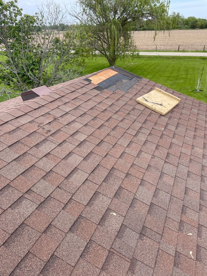 Troy, OH - Replacing shingles for a roof repair in Troy, Ohio.