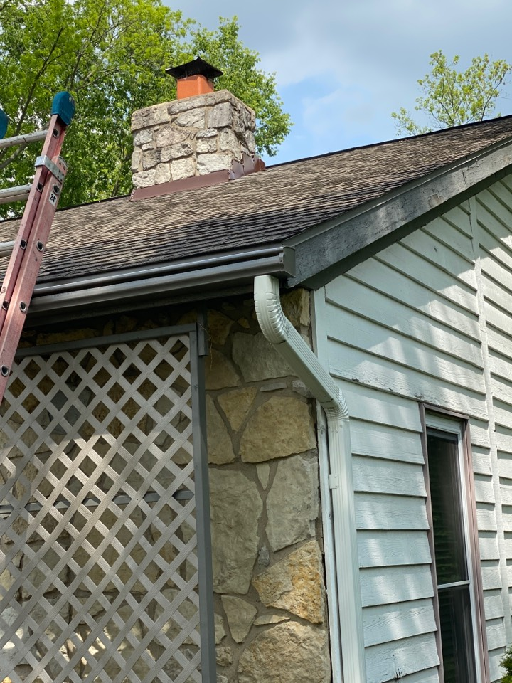 Middletown, OH - Chimney flashing installation in Middletown, Ohio.