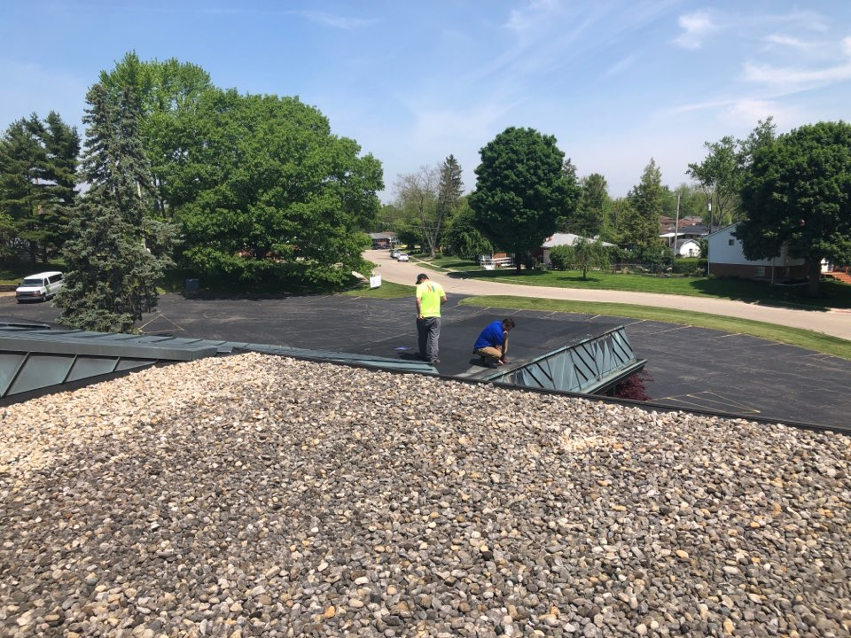 Fairborn, OH - Flat roof evaluation on a commercial roof in Fairborn, Ohio.