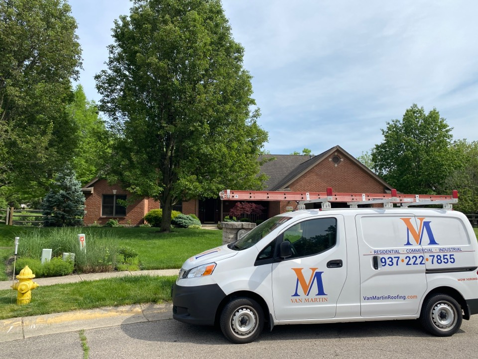 Miamisburg, OH - Meeting with a customer to provide a quote for a roof replacement in Miamisburg, Ohio using CertainTeed shingles.