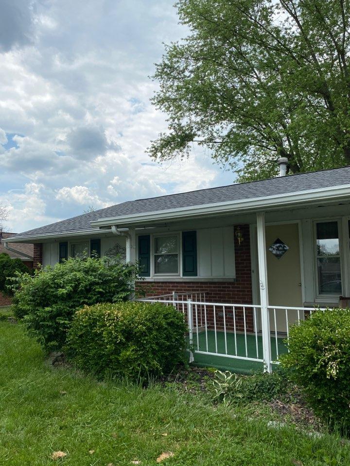 Vandalia, OH - Full roof replacement using CertainTeed Landmark shingles in Vandalia, Ohio.