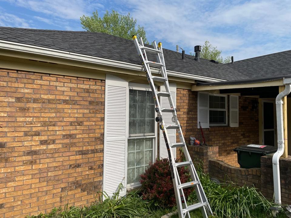 Fairborn, OH - Providing a free estimate for a ridge vent installation in Fairborn, Ohio.