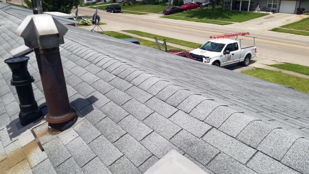 New Carlisle, OH - Roof replacement in New Carlisle, Ohio using CertainTeed Landmark shingles.