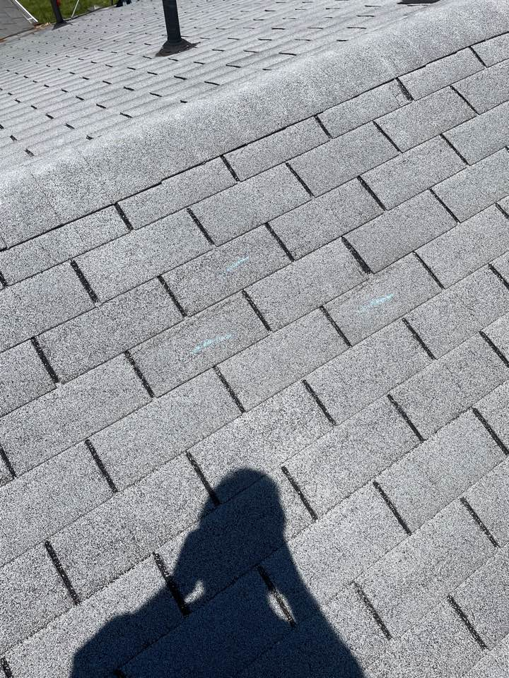 Troy, OH - Insurance claim on a wind-damaged roof for a replacement using CertainTeed shingles in Troy, Ohio.