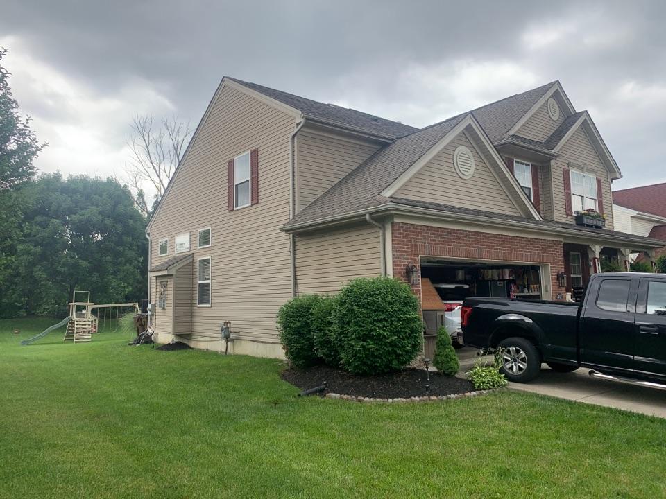 Beavercreek, OH - Free inspection of a storm-damaged roof in Beavercreek, Ohio.