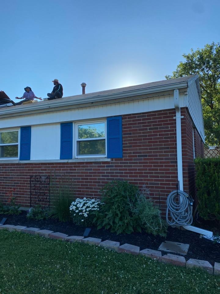 Fairborn, OH - Full roof replacement, installing CertainTeed Landmark shingles in Fairborn, Ohio.