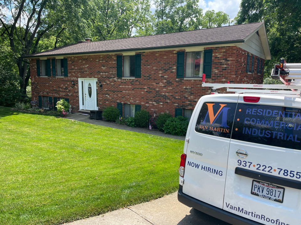 Vandalia, OH - Free estimate for old leaking gutter replacement and gutter guards in Vandalia, Ohio.