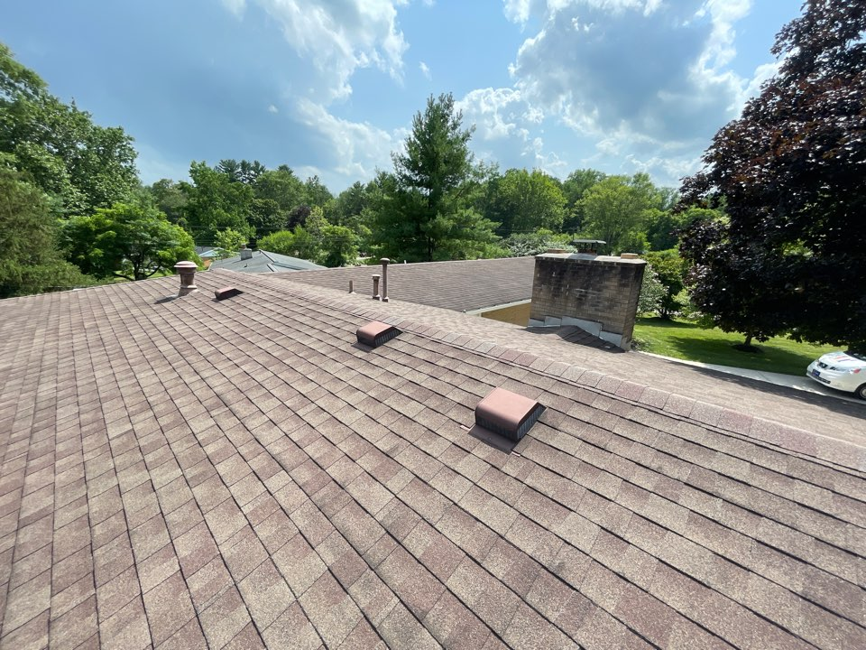 Bellbrook, OH - Free estimate to cut in new soffit intake and install CertainTeed Ridge vent to roofing system in Bellbrook, Ohio.