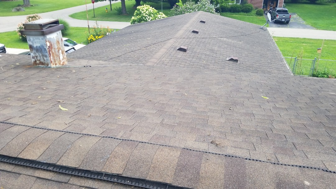 Enon, OH - Roof replacement using Certainteed Landmark shingles in Enon, Ohio.