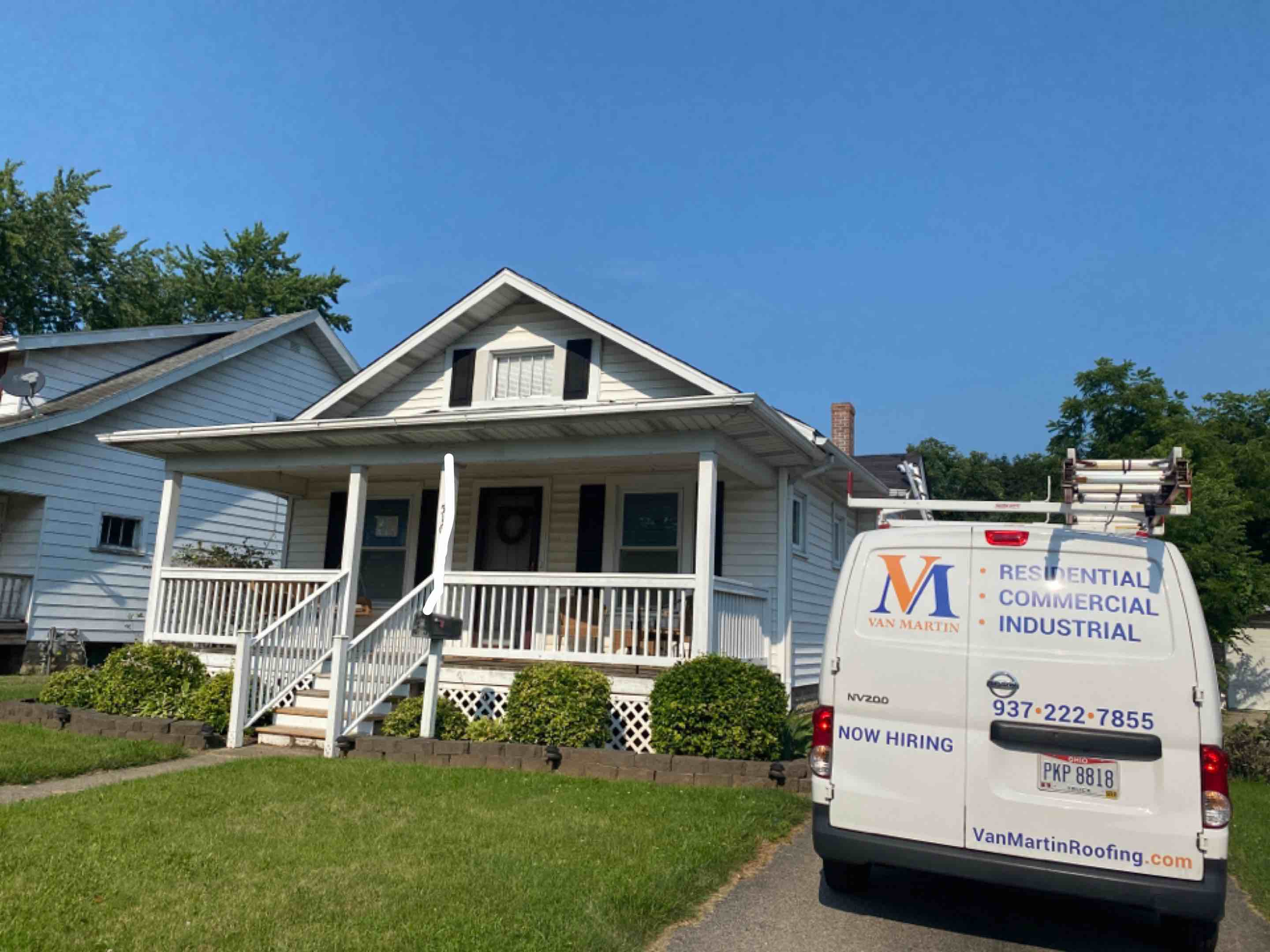 Fairborn, OH - Meeting with a customer for a roof replacement in Fairborn, Ohio.