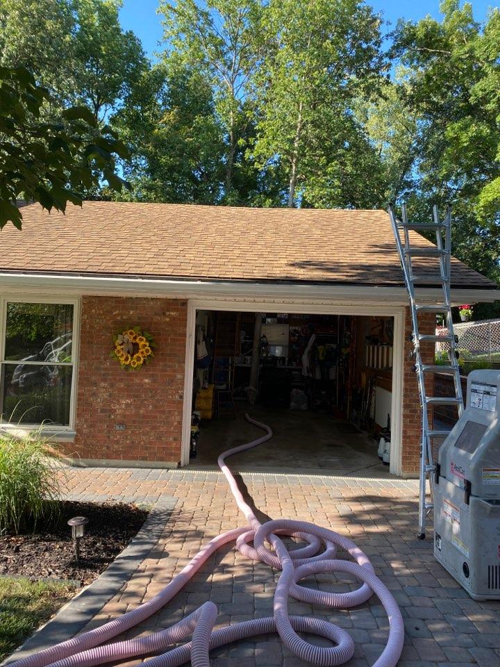 Springboro, OH - Baffle and insulation install and shingle roof repair in Springboro, Ohio.