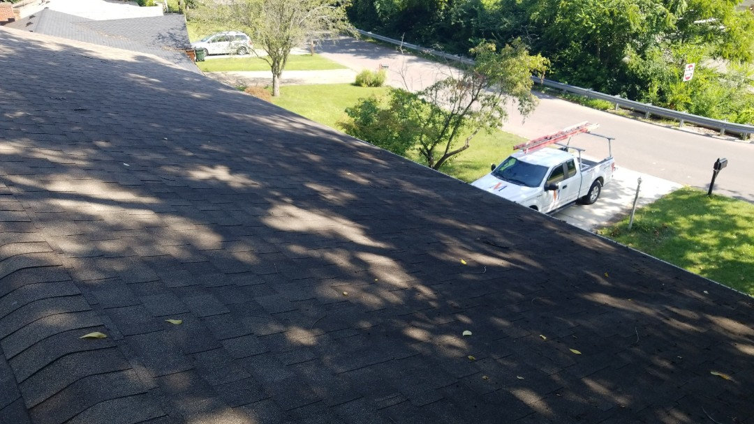 Dayton, OH - Storm damaged shingle roof repair in Kettering, Ohio.