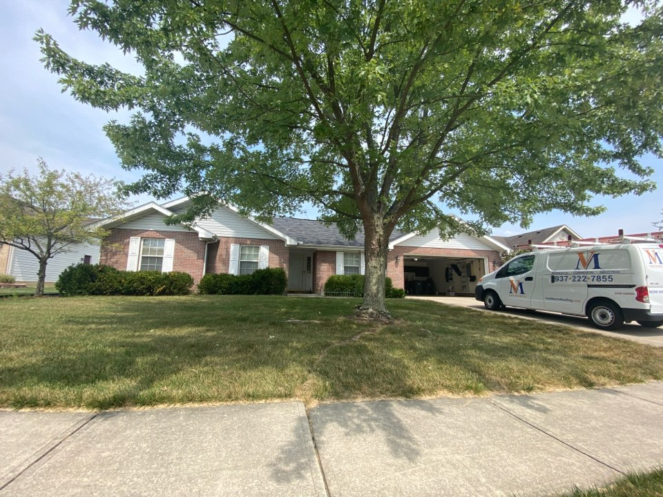Troy, OH - Meeting with a customer to provide an estimate for a roof replacement in Troy, Ohio.