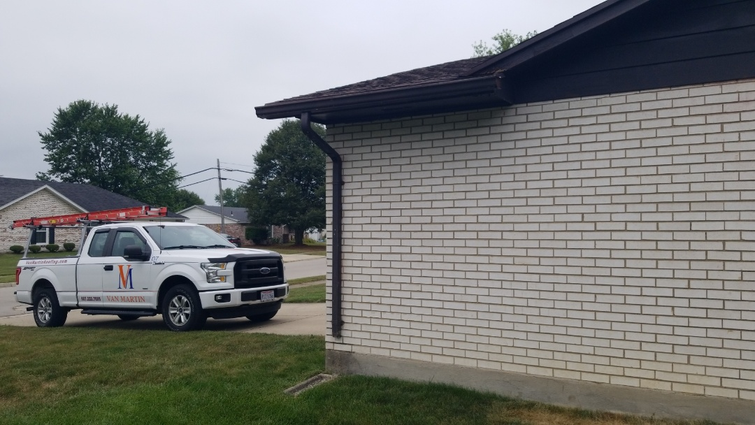 Englewood, OH - Gutter replacement in Englewood, Ohio.