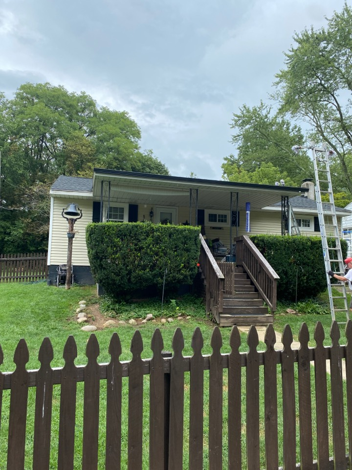 Xenia, OH - Final inspection of a gutter replacement in Xenia, Ohio.
