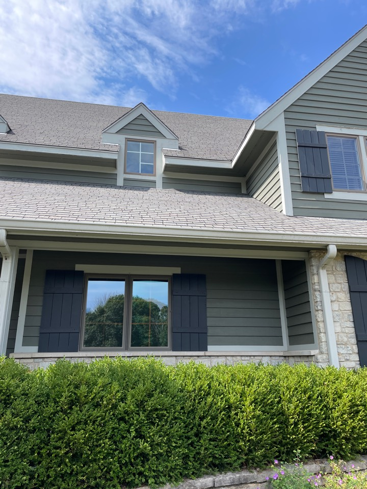 Springboro, OH - Seamless gutters and gutter guards were installed as well as roof repairs in Springboro, Ohio.