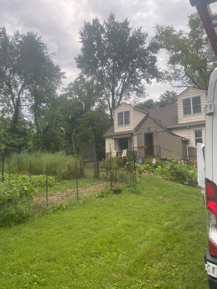 Beavercreek, OH - Repaired facia board and added a piece of siding to a home in Beavercreek, Ohio.