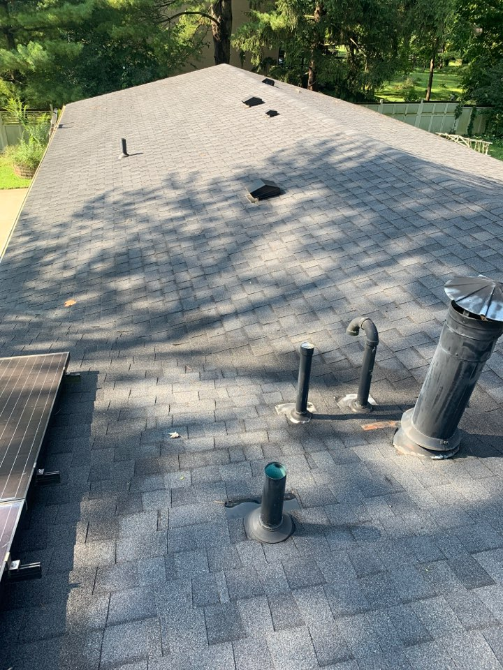 Yellow Springs, OH - Roof and gutter inspection in Yellow Springs, Ohio.