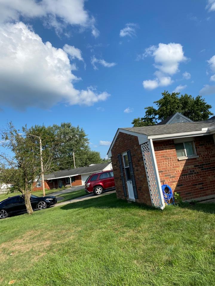 Xenia, OH - Shingle roof repair in Xenia, Ohio.