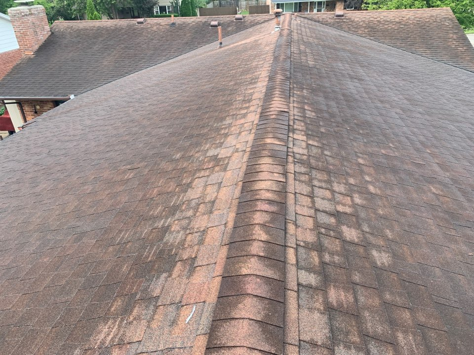 Fairborn, OH - Providing a free estimate for a roof replacement in Fairborn, Ohio.