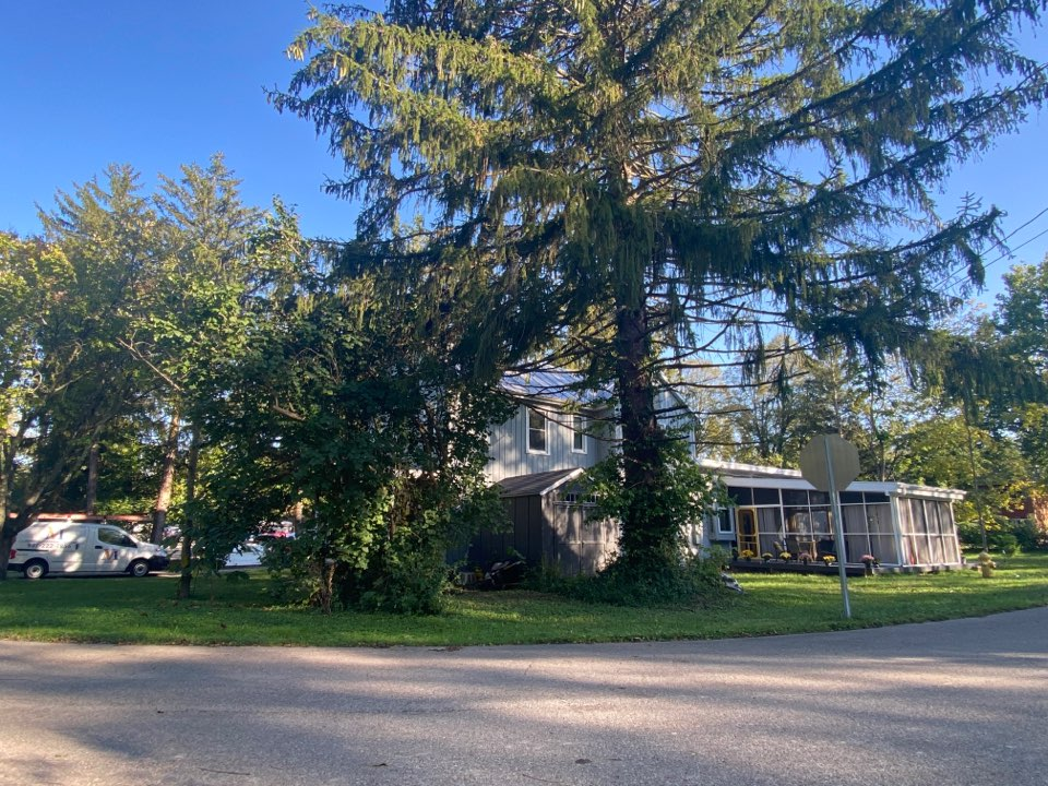 Yellow Springs, OH - Meeting with a customer to provide an estimate for a roof replacement in Yellow Springs, Ohio.