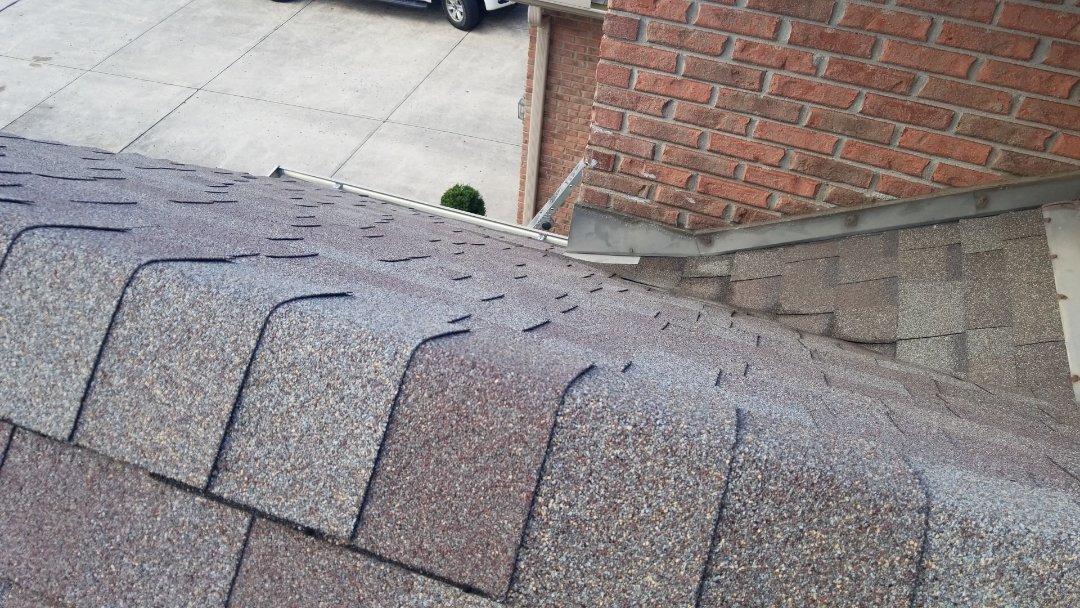 Roof repairs in Vandalia, Ohio.