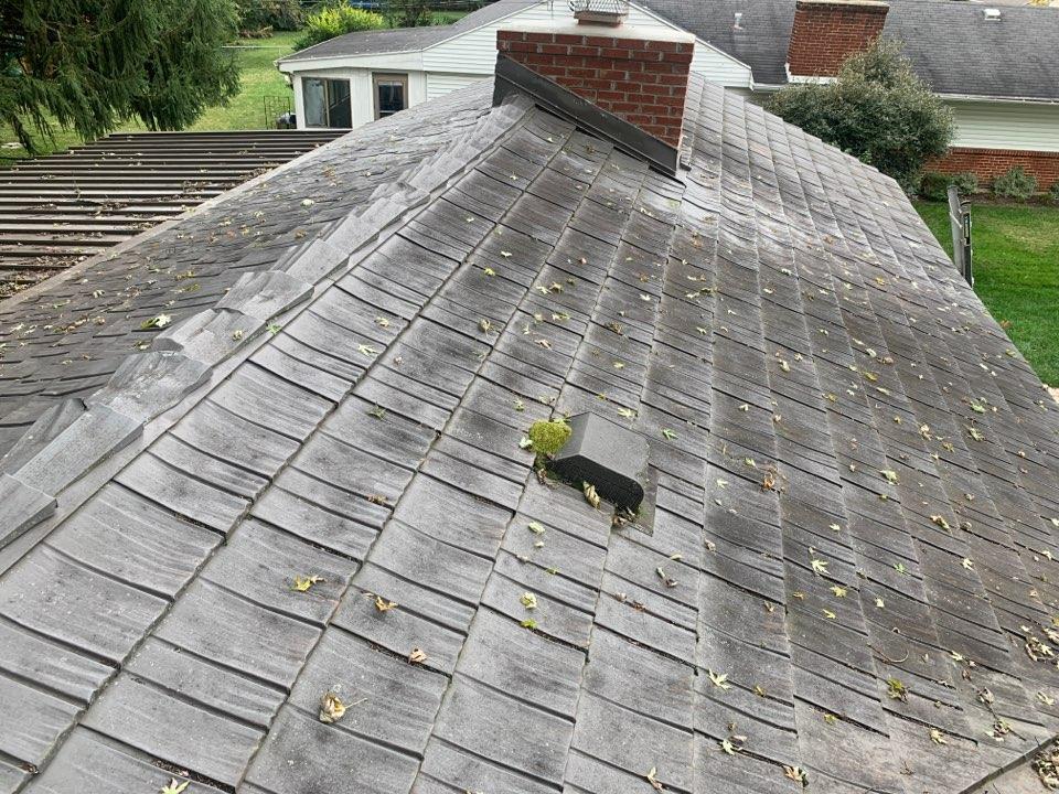 Metal roof repair estimate in Kettering, Ohio.