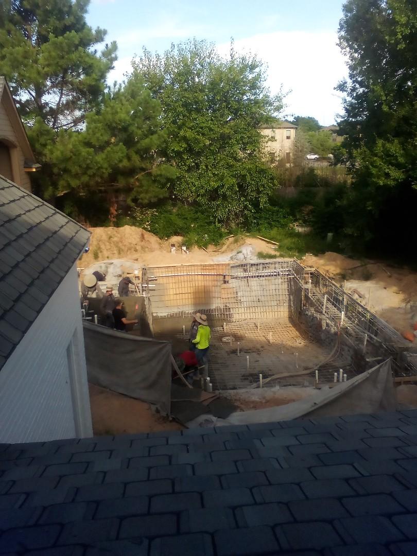Tulsa, OK - Pool being sprayed today