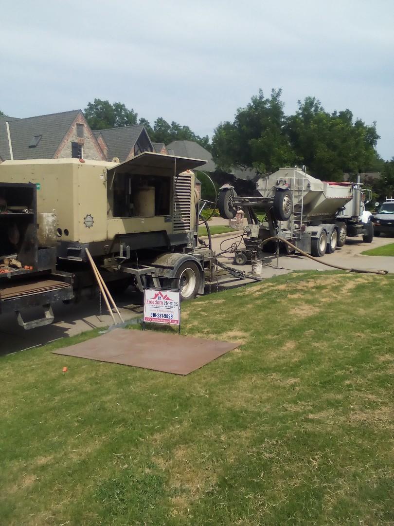 Tulsa, OK - Gunite pool install