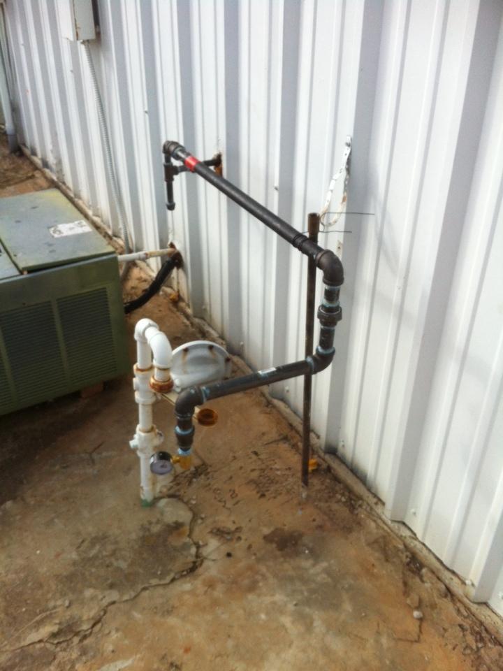 Tecumseh, OK - Gas line repair and pressure test.
