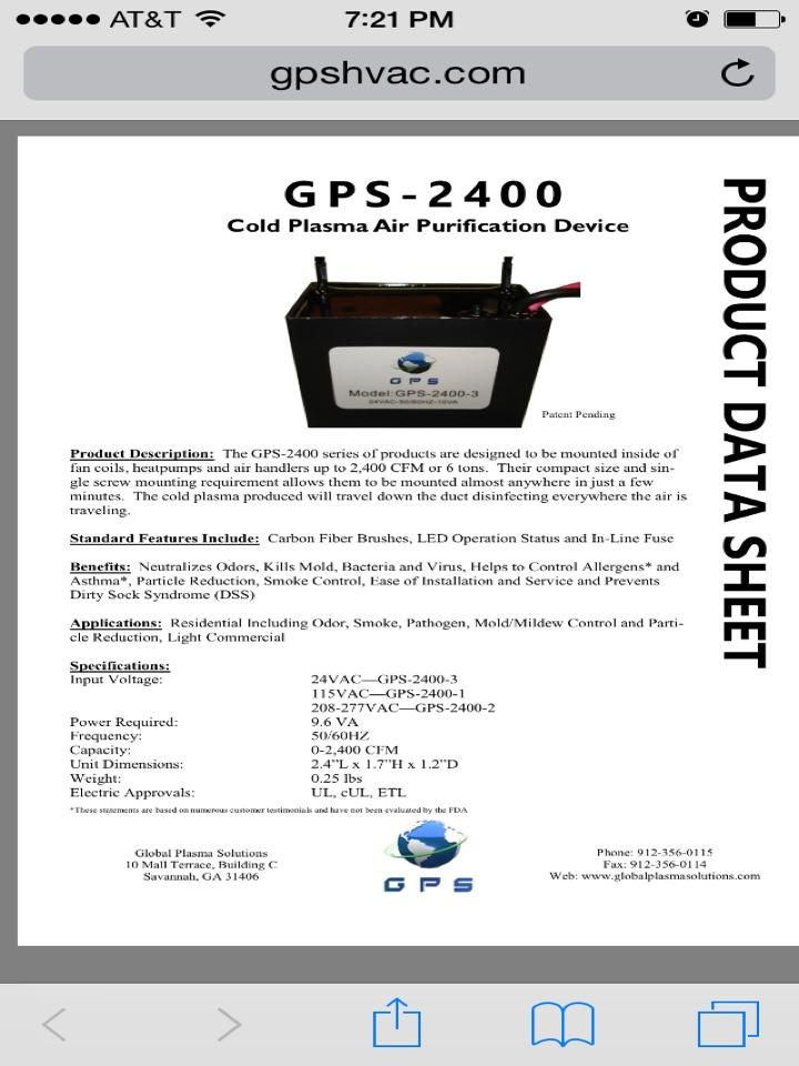 Tecumseh, OK - Install gps 2400 on gas furnace