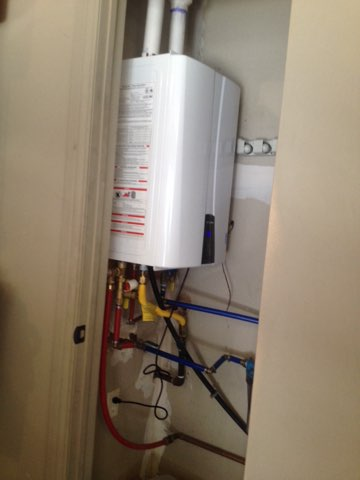 Harrah, OK - Installed tankless water heater