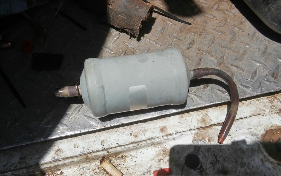 Yukon, OK - AC repair. Repair cut copper line and recharge system.
