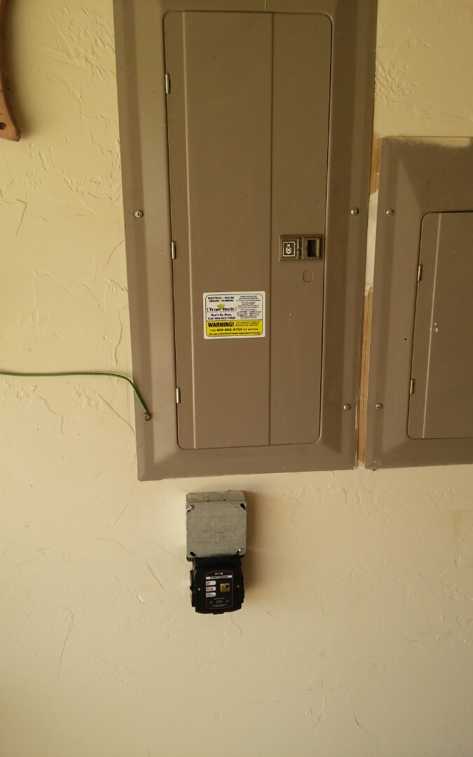 McLoud, OK - Installed a Cable surge protector and a whole home surge protector