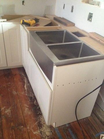 Luther, OK - Installed kitchen sink