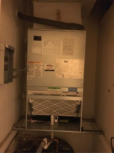 Quality check new install of a Carrier System with Easy filter access, Located at the beautiful towers of oceanview east located in Hallandale Beach Florida.