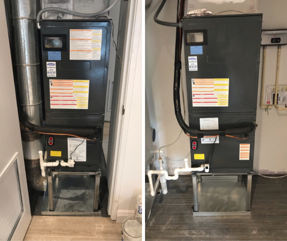 Pompano Beach, FL - At this Pompano Beach commercial installation, we replaced 48 thermostats in 6 buildings and lowered thermostats in 7 buildings. We also replaced 5 exhaust fans and verified exhausted connections in one building. We furnished and installed three Rheem systems in their clubhouse.