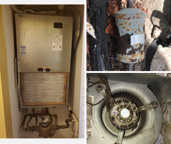 Davie, FL - During this residential call in Davie, the customer reported that the system was freezing and leaking water. After review, we discovered there were multiple issues including an extremely dirty blower wheel causing improper airflow, the liquid filter was rusted out, and the condenser coil was in poor shape. Instead of suggesting repairs on this 23 year old system, we advised to replace it with a new, energy efficiency system. Our comfort consultant went out to this customer to suggest the best options for her home.