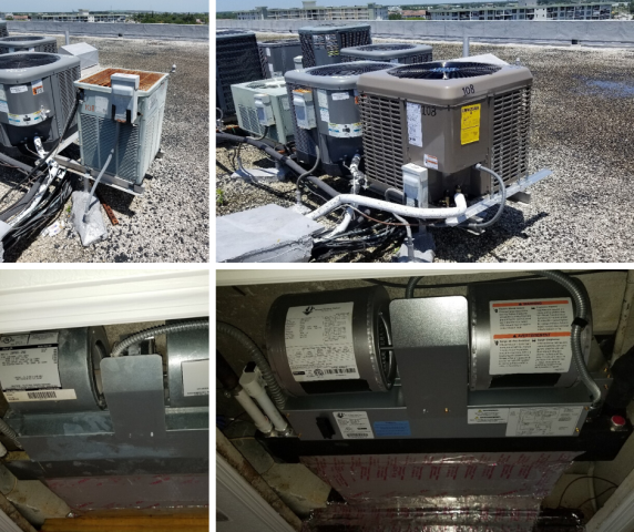 Pompano Beach, FL - Our comfort consultant went to this residential customer to go over new system options for their home in Pompano Beach.  The customer opted to replace the 15 year old system for a YORK condenser unit, ADP pancake unit, and A new programmable Honeywell thermostat. Attached are before and after images of the brand new system.