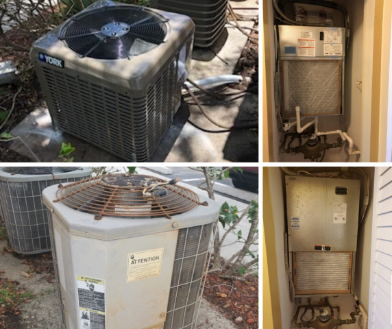 Davie, FL - Our Comfort Consultant went to check on the customer's newly installed  YORK system in Davie. Below are the before and after photos.