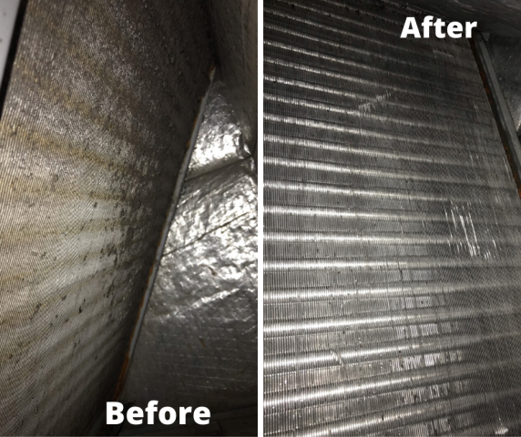 Margate, FL - We arrived to this commercial facility to take care of some cleaning and maintenance services including the evaporator coil cleaning.