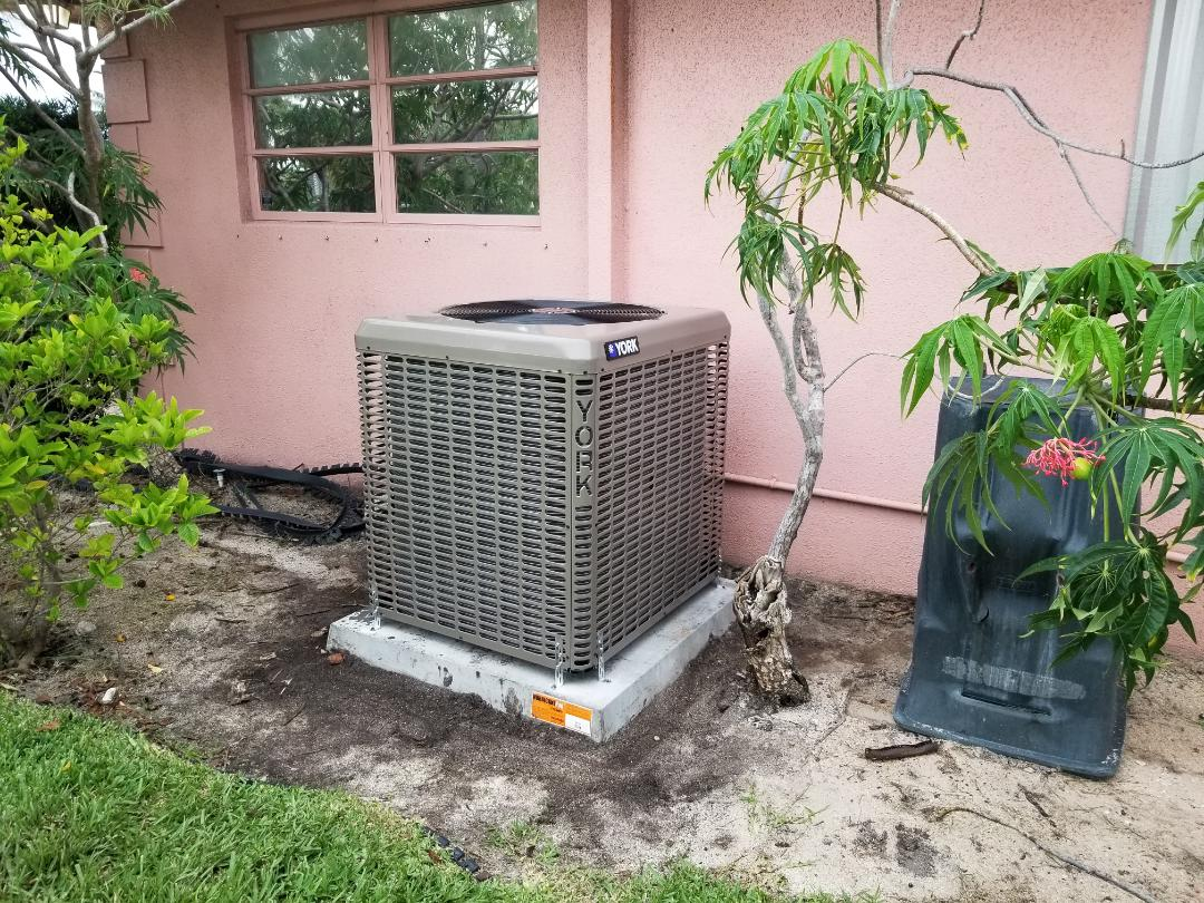 Complete efficient air conditioning system install. Customer receives many years of savings and comfort