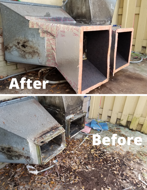Coconut Creek, FL - Here's a example of a poor installation or someone with little or no training and experience. Most issues are found after older system is removed. 