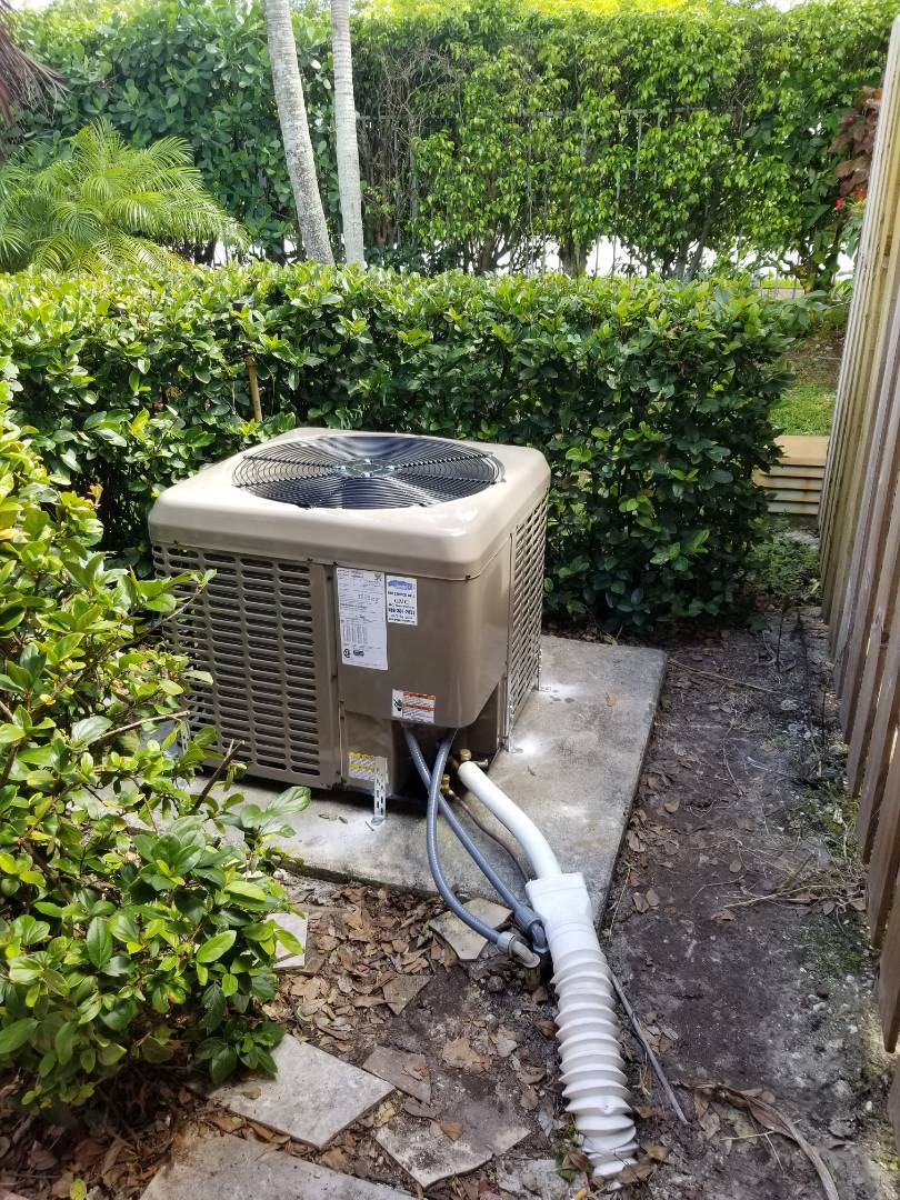 Tamarac, FL - Air conditioning system install. Giving our customer piece of mind that the summer months will be cool and efficient