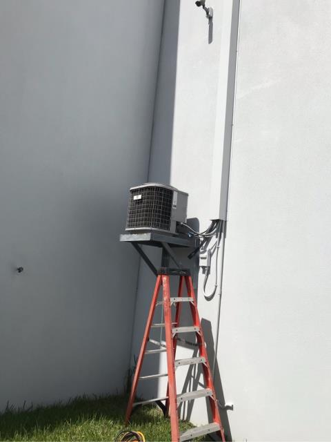 Deerfield Beach, FL - For this commercial customer in Deerfield Beach we arrived to a system not cooling and in need of some AC assistance. Our technician performed a full diagnostic of the system and discovered that the system is low on refrigerant. Since this system is from 2011, we recommend replacement over repair.