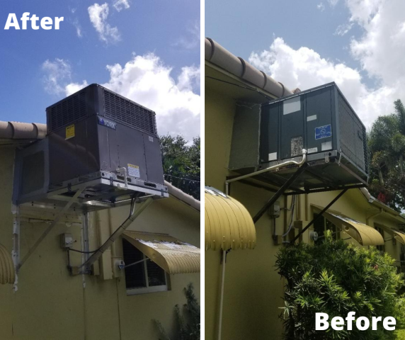 Installed a brand new YORK system for this residence in Hollywood.