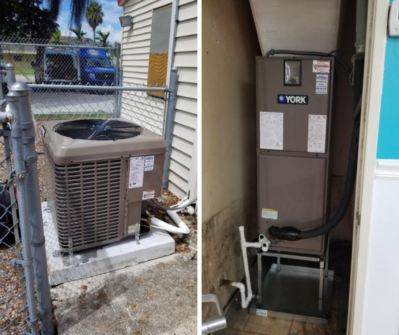 Installed a brand new YORK system for this commercial facility in North Lauderdale